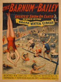 Vintage Poster The Barnum & Bailey greatest show on earth Scenes in the grand water circus